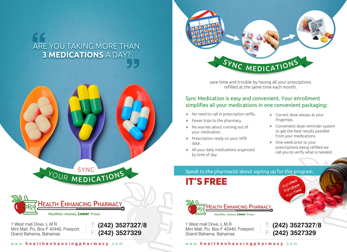 Pharmacy Flyer Design Galleries for Inspiration