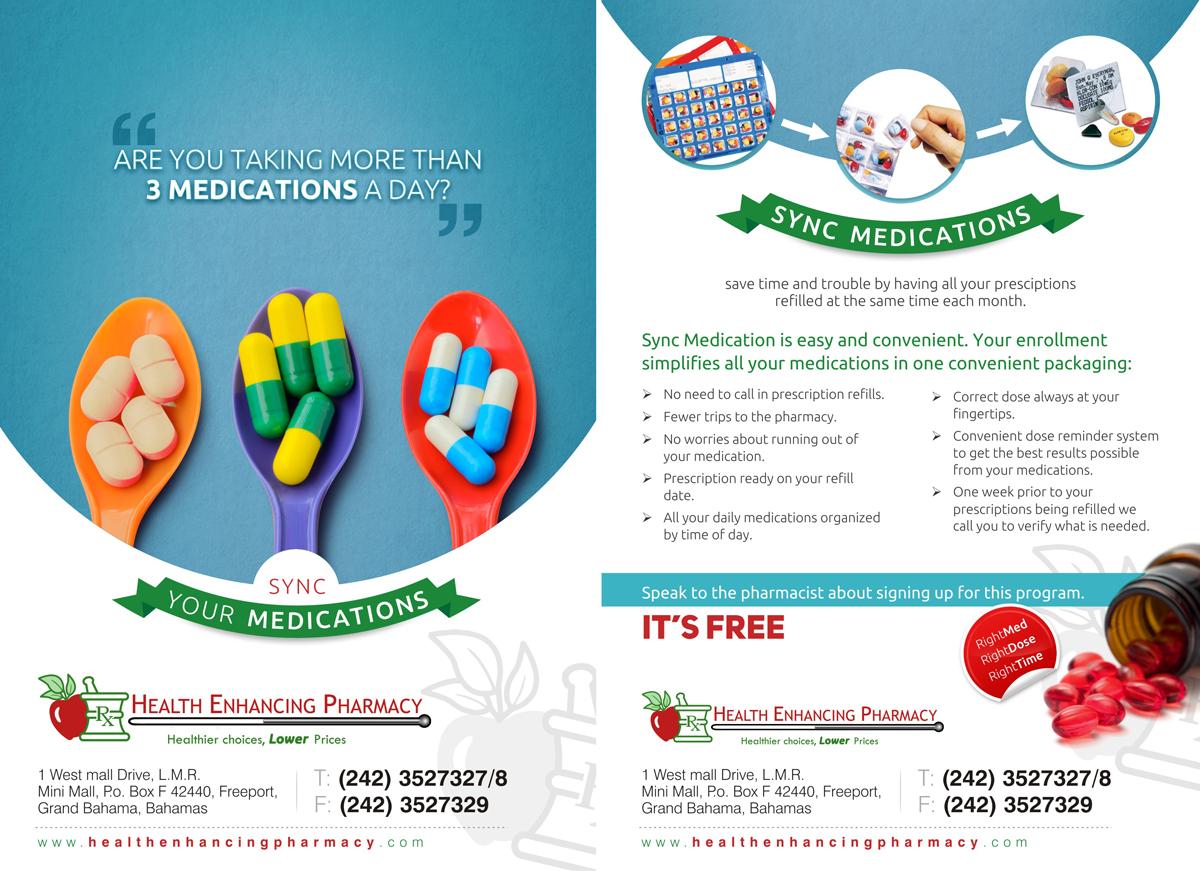 professional upmarket flyer design for health enhancing