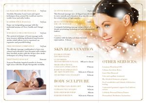 Brochure Design by DesignFive - Spa brochure like beverly hills plaza spa one i ...