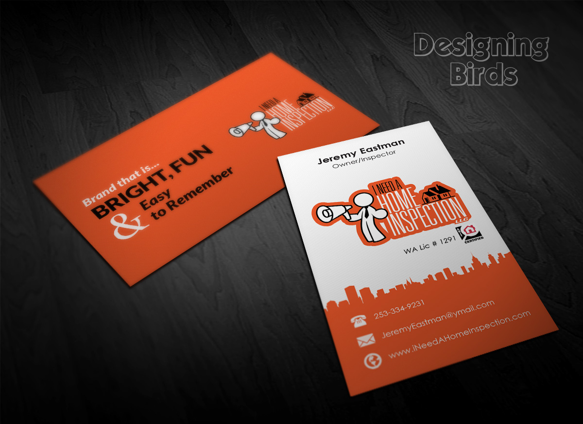 Bold, Playful, Home Inspection Business Card Design for a Company by ...