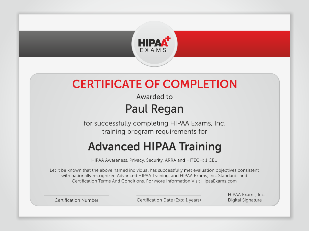 Graphic Design for HIPAA Exams by HYPdesign | Design #1537469