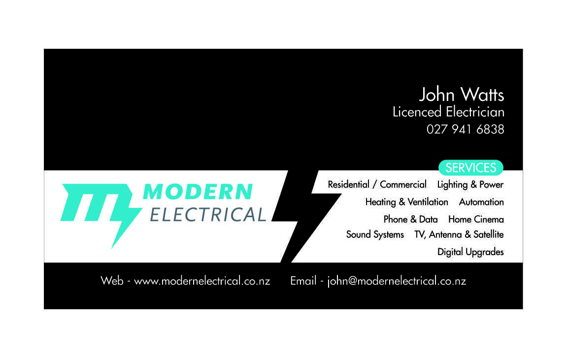Modern, Bold, Electrician Business Card Design for Modern Industries ...