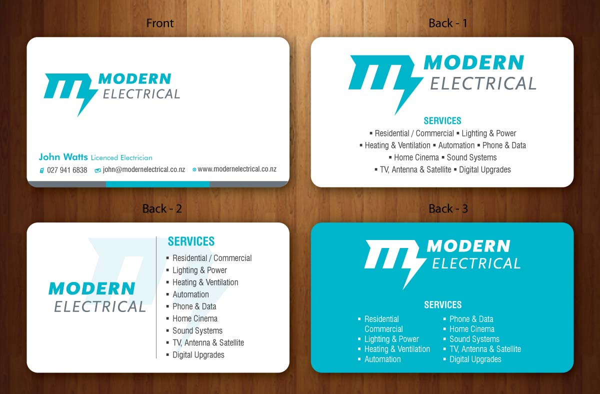 Modern bold business card design for modern industries limited by business card design by smart for electrical business card design project design 1536895 magicingreecefo Images