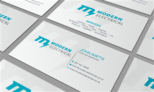 128 Modern Bold Electrician Business Card Designs for a ...