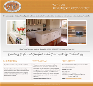 Web Design by Jagannath - Kitchen and cabinets Landing Page design