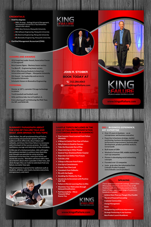 Brochure Design by debdesign - The King of Failure - Speaker Profile Brochure  ...