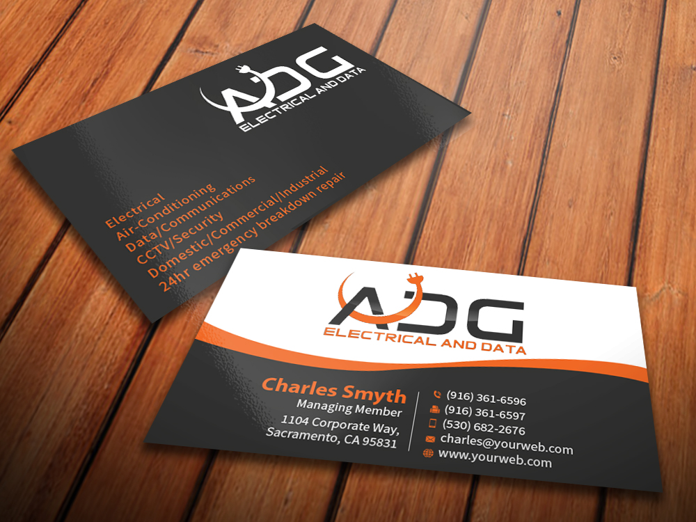 Business Card Design By Mediaproductionart For Electrical Contractor Professional Modern Company