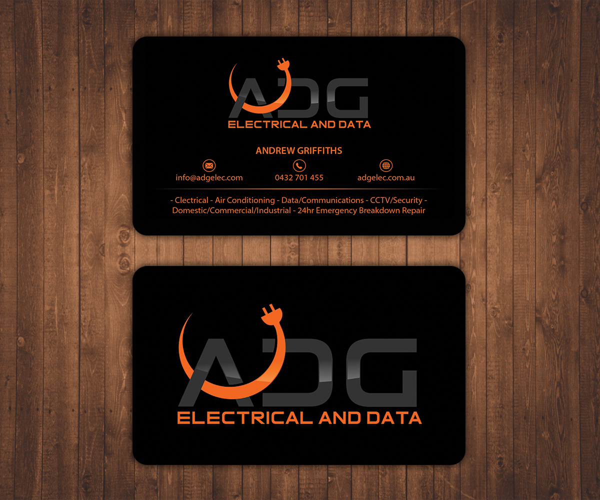 serious  modern  electrical business card design for a company by stylez designz