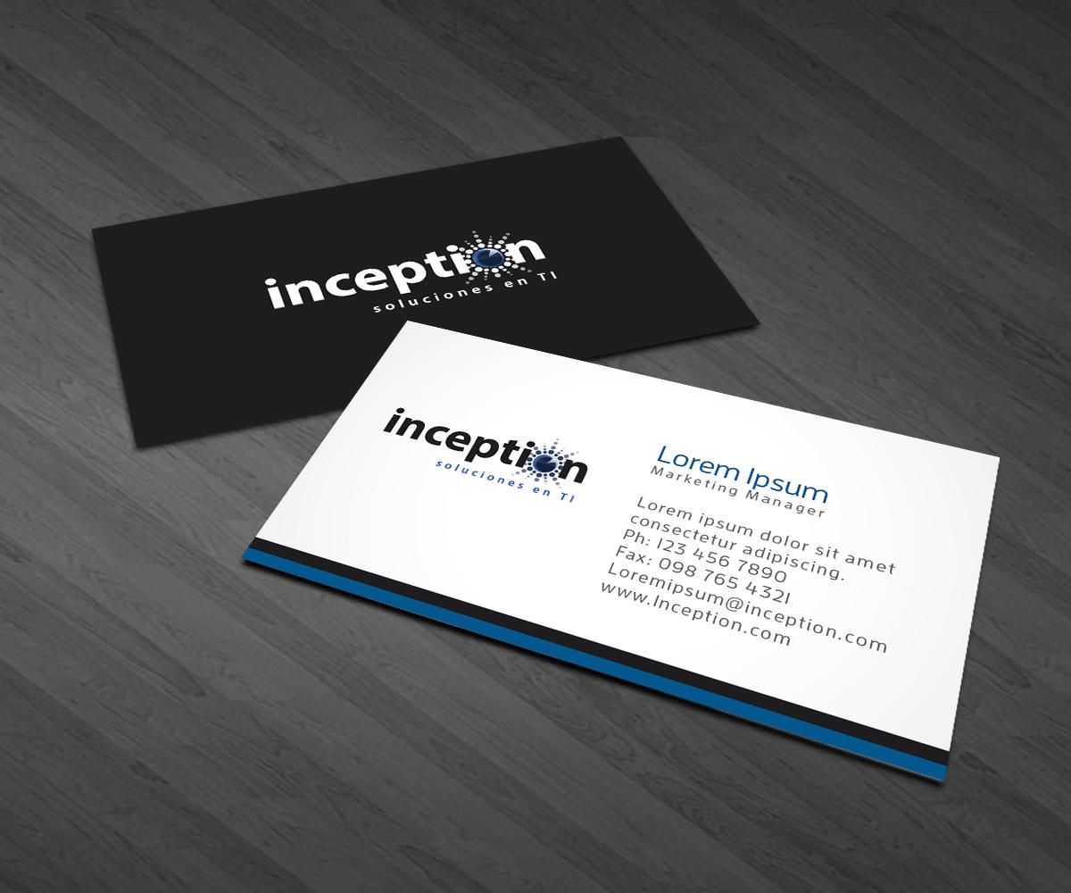 Professional, Elegant, Software Business Card Design for Inception ...