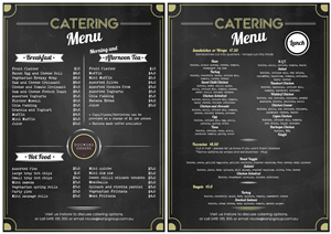 41 Elegant Playful Catering Menu Designs for a Catering business ...