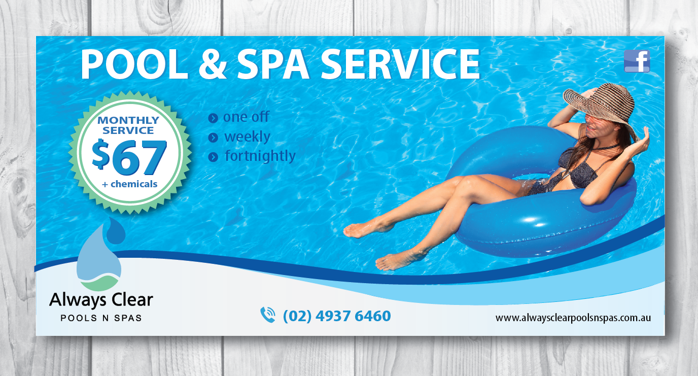 Conservative upmarket pool service flyer design for for Pool design services