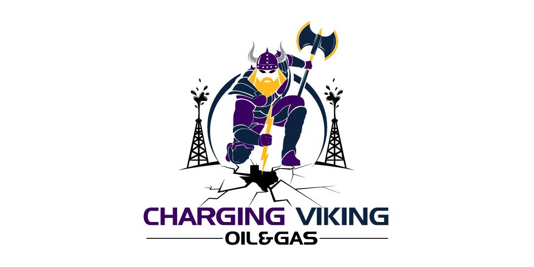Logo Design By Hih7 For Full Body Viking Slamming A Lightning Bolt Into The Earth Or
