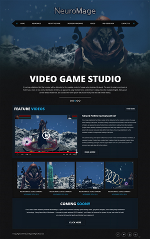 Graphic / Web page design for First Class Game Studios