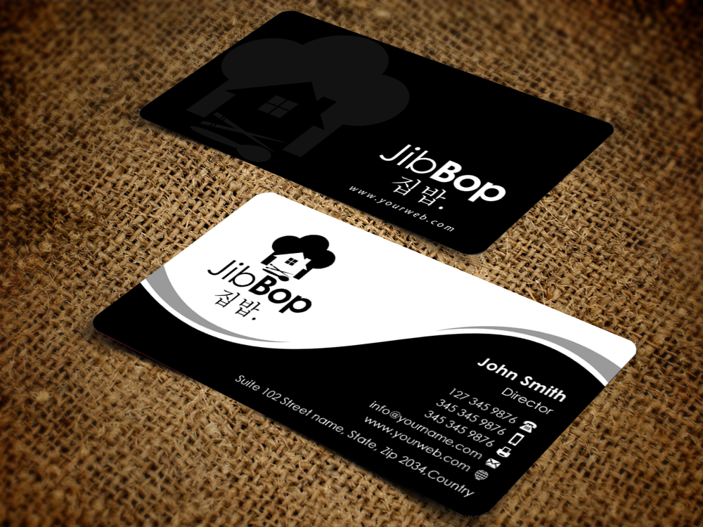 business card design by pixelfountain for this project design 5617774 - Restaurant Business Card