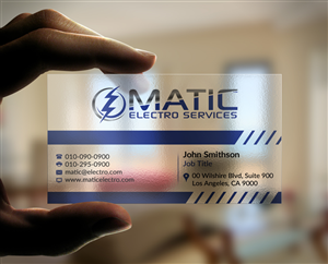Business Card Design 5608440 Submitted To MATIC ELECTRO SERVICES Needs A Vibrant