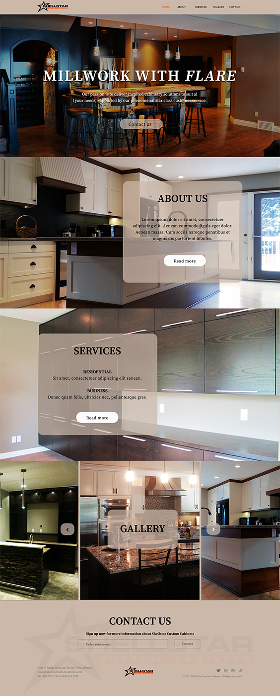Web Design By Luzmiladdl For Shellstar Custom Cabinets LTD | Design:  #5667389