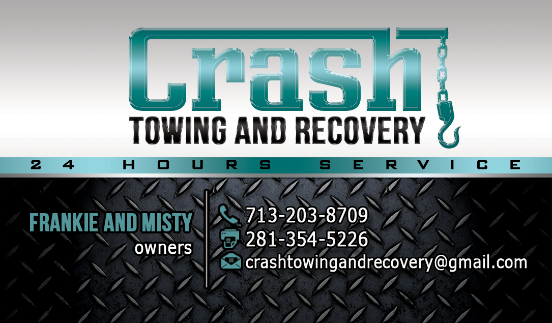 Elegant Playful Business Card Design For Crash Towing And Recovery By Hardcore Design Design