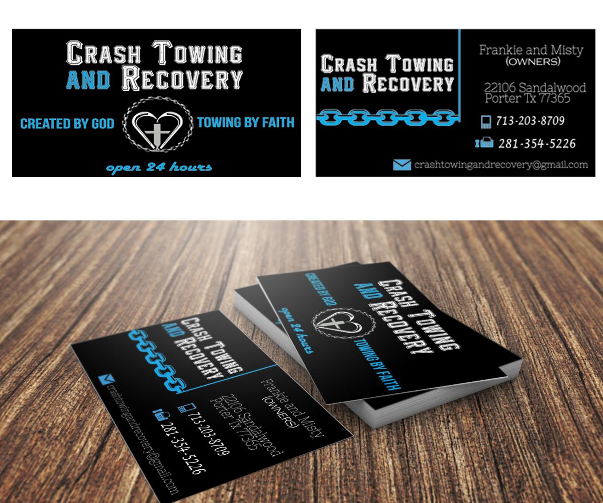 Elegant, Playful, Business Business Card Design for Crash Towing and ...