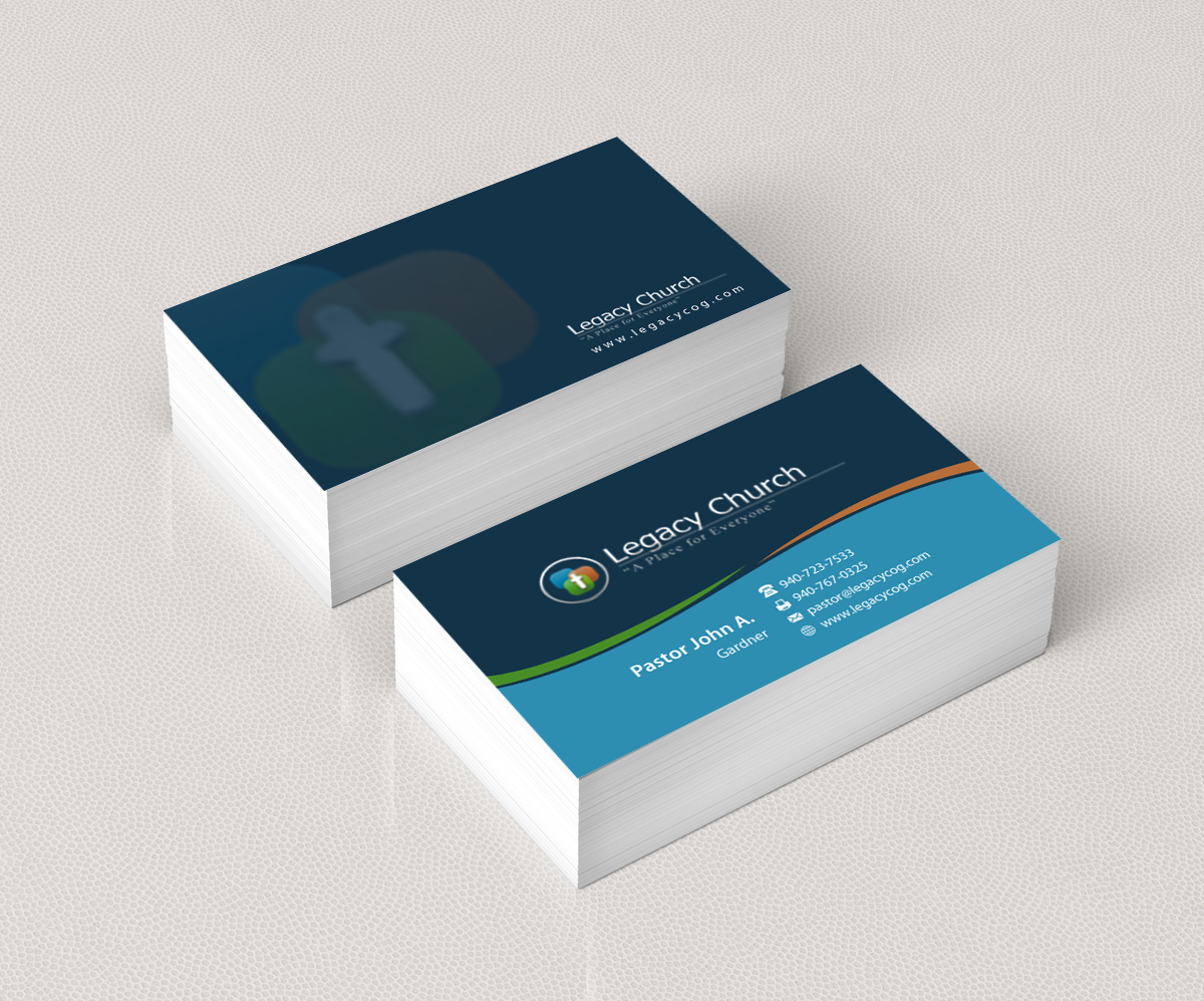 Elegant playful church business card design for a company by business card design by pixelfountain for this project design 5619802 colourmoves