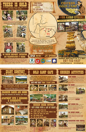 Brochure Design by UrbainFX - Chicken Alaska wilderness resort needs a tri-fo ...