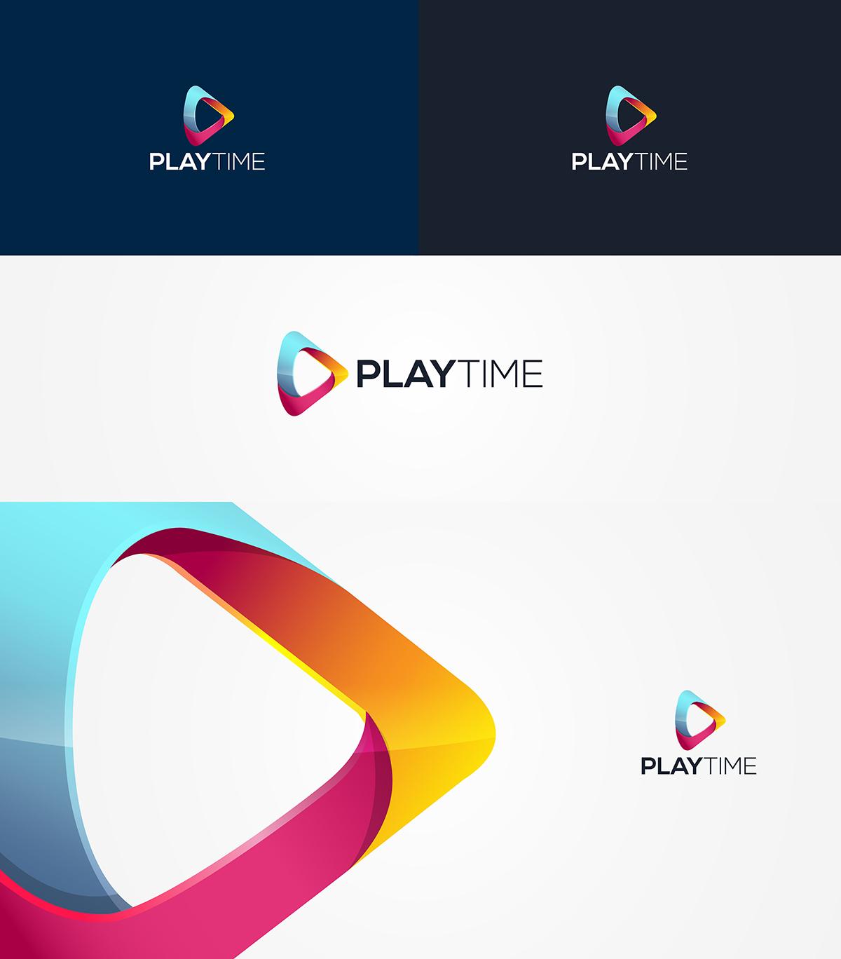 elegant playful digital logo design for playtime
