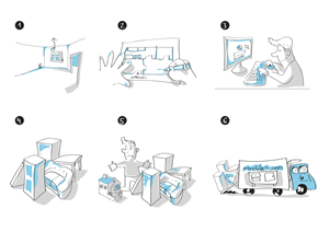 Illustration Design by nanocb72 - Prezi illustrations in black & white, island th ...