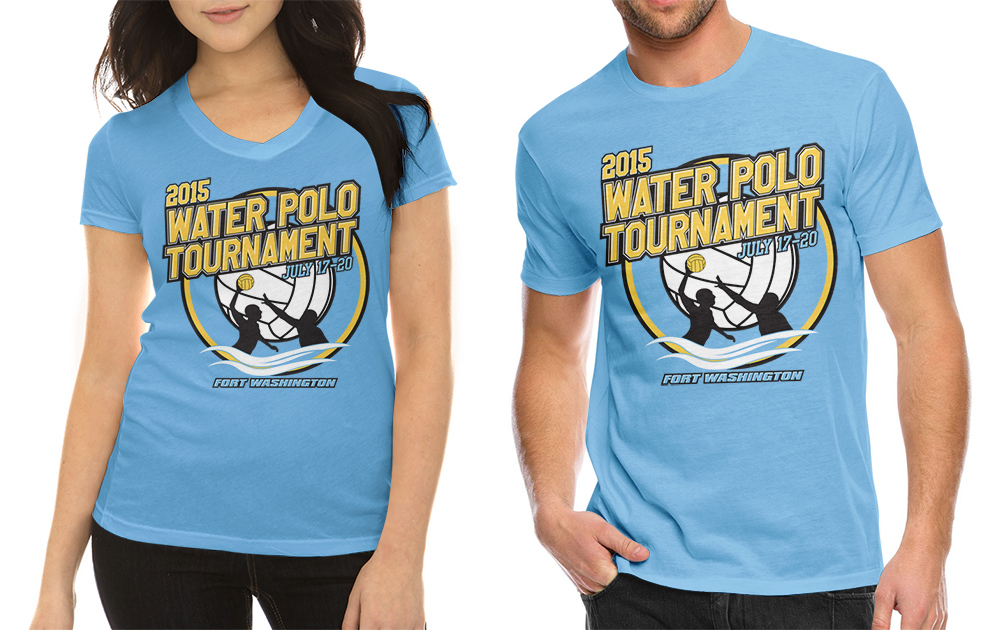 Colorful, Bold, Event T-shirt Design for collegiate water polo ...