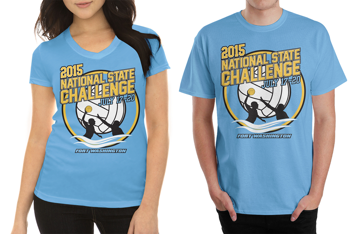 Colorful, Bold, Event T-shirt Design for collegiate water ...