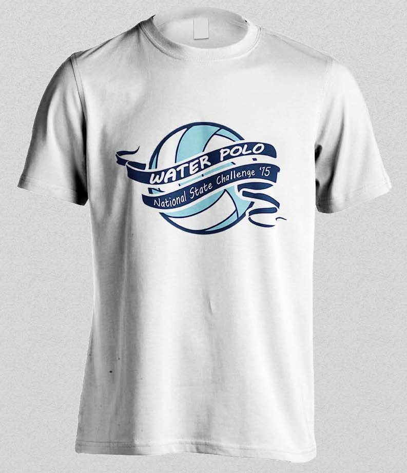 Colorful, Bold T-shirt Design for collegiate water polo ...