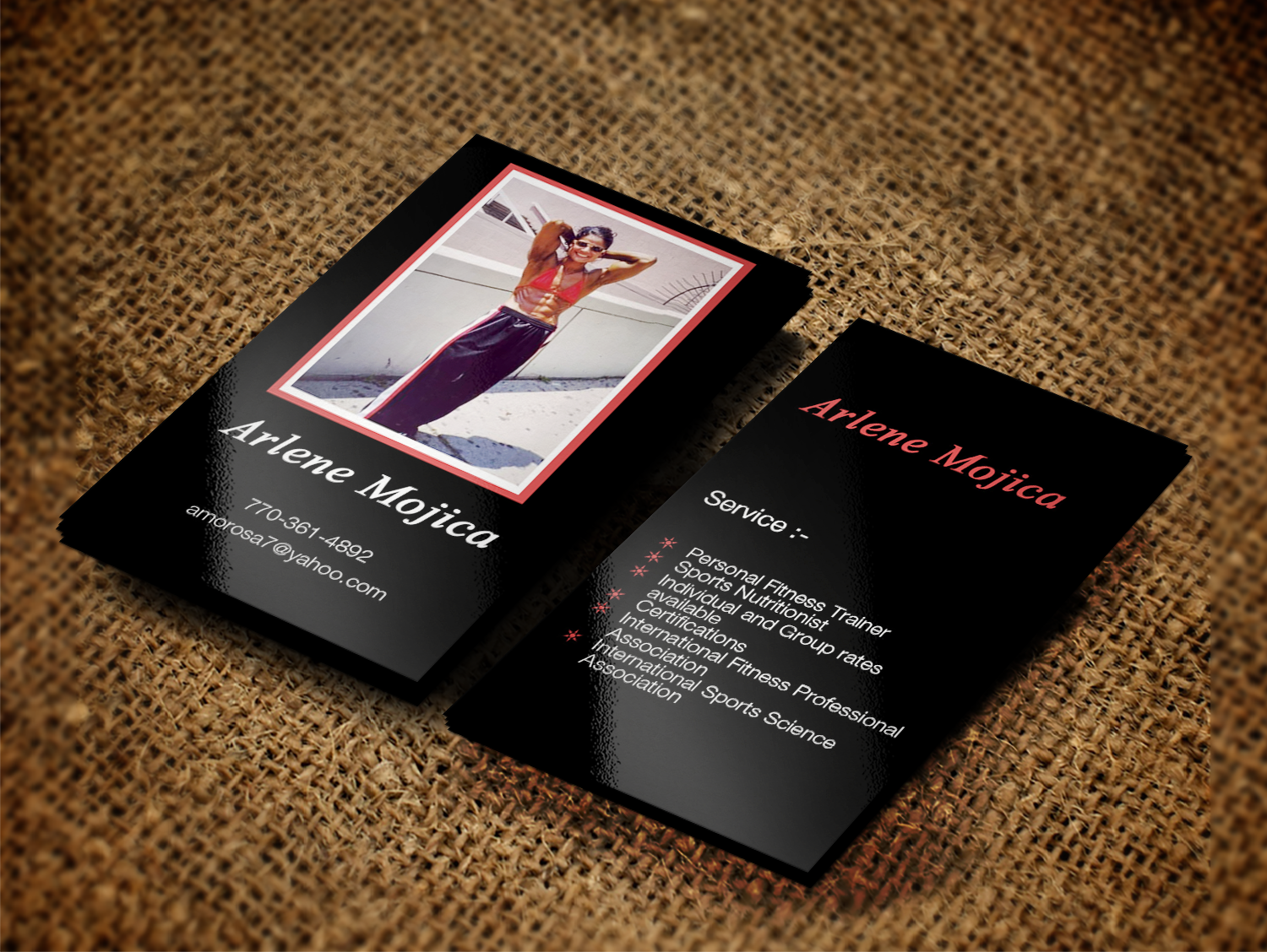 Fitness Business Card Design for a Company by Creation Lanka ...