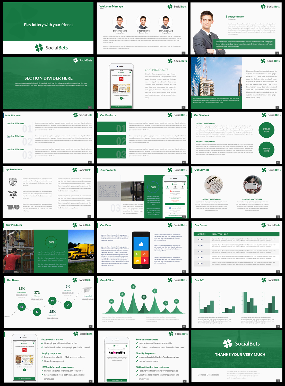 bold playful startup powerpoint design for socialbets app s l by