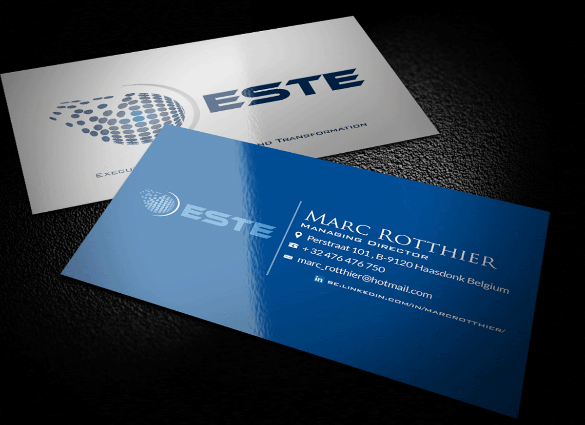 Modern, Professional Business Card Design for Marc Rotthier by Riz ...