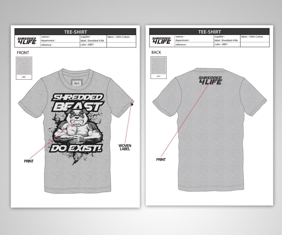 Upmarket Bold Fitness T Shirt Design For A Company By Jeffdefy
