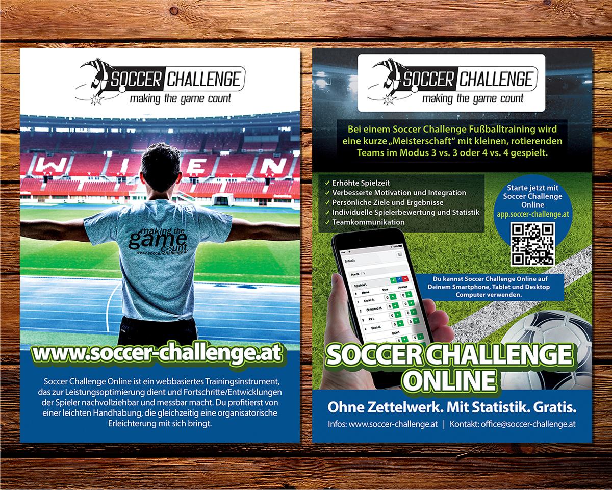 Playful, Modern, Games Flyer Design for Soccer Challenge by ...