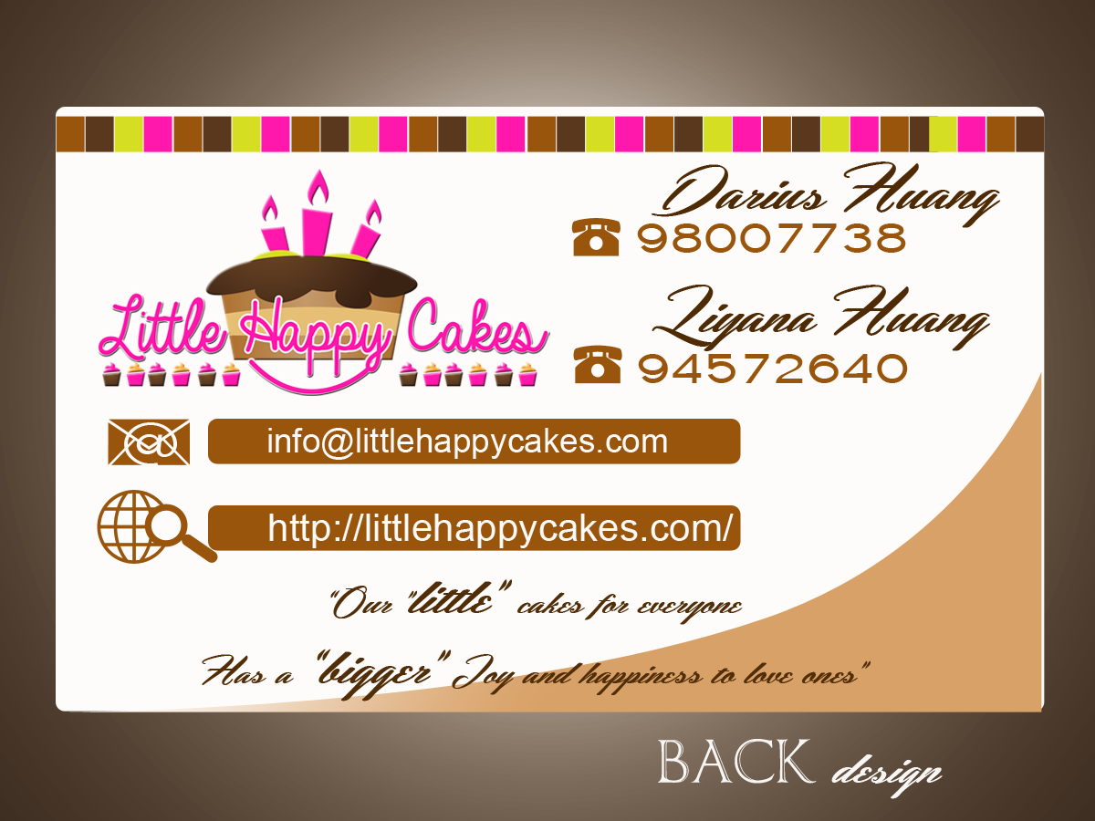 Design De Carte Visite Par Swanart Pour Little Happy Cakes
