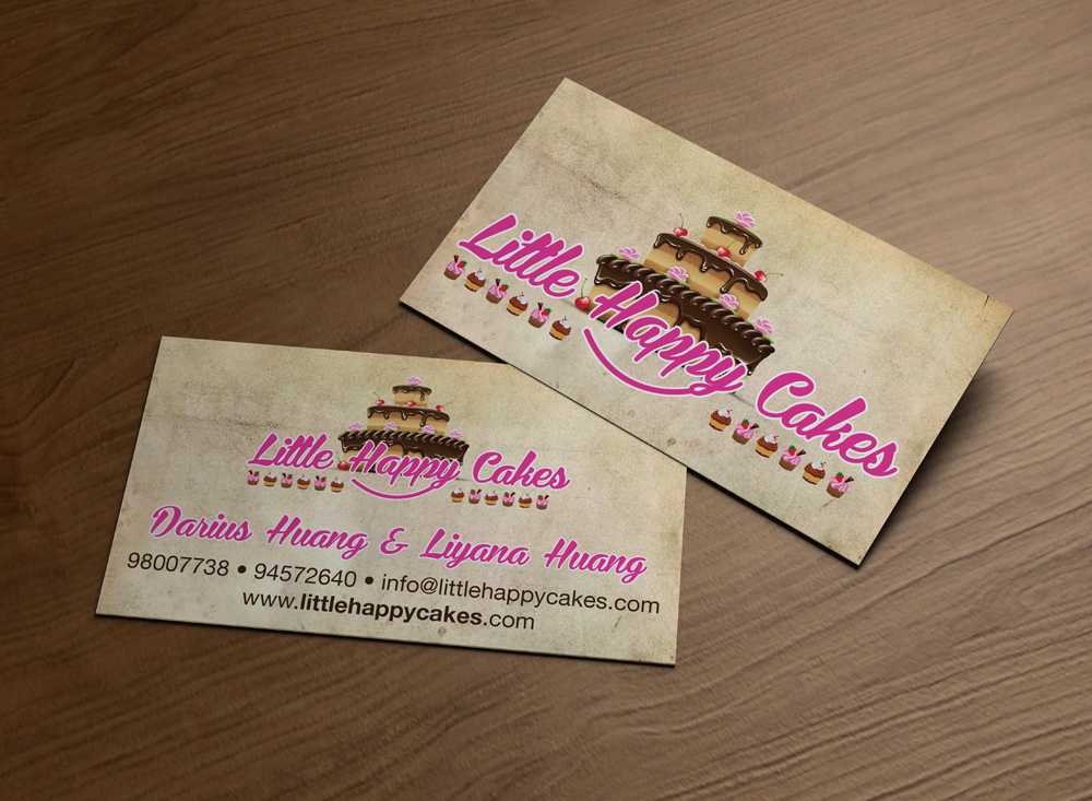 Modern Personable Bakery Business Card Design For Little Happy