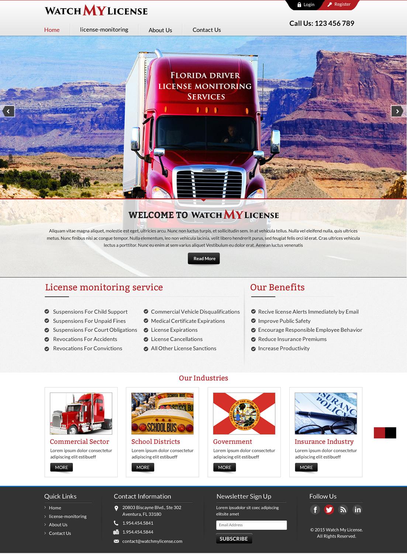 Masculine professional government web design for bret for Masculine web design