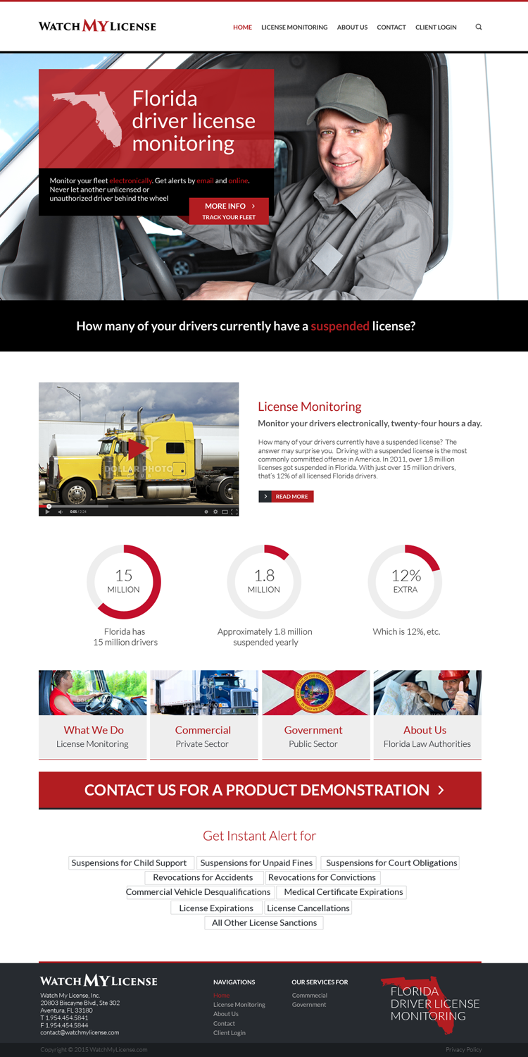 Masculine professional web design for bret lusskin pa by for Masculine web design