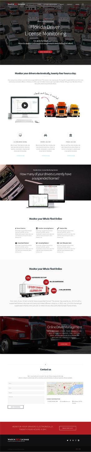 Web Design by Elegant Designs - Driver License Monitoring Application Marketing ...