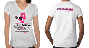 T-shirt Design by PPStudios - Fit N Thick Babe: A Health, Fitness & Wellness  ...