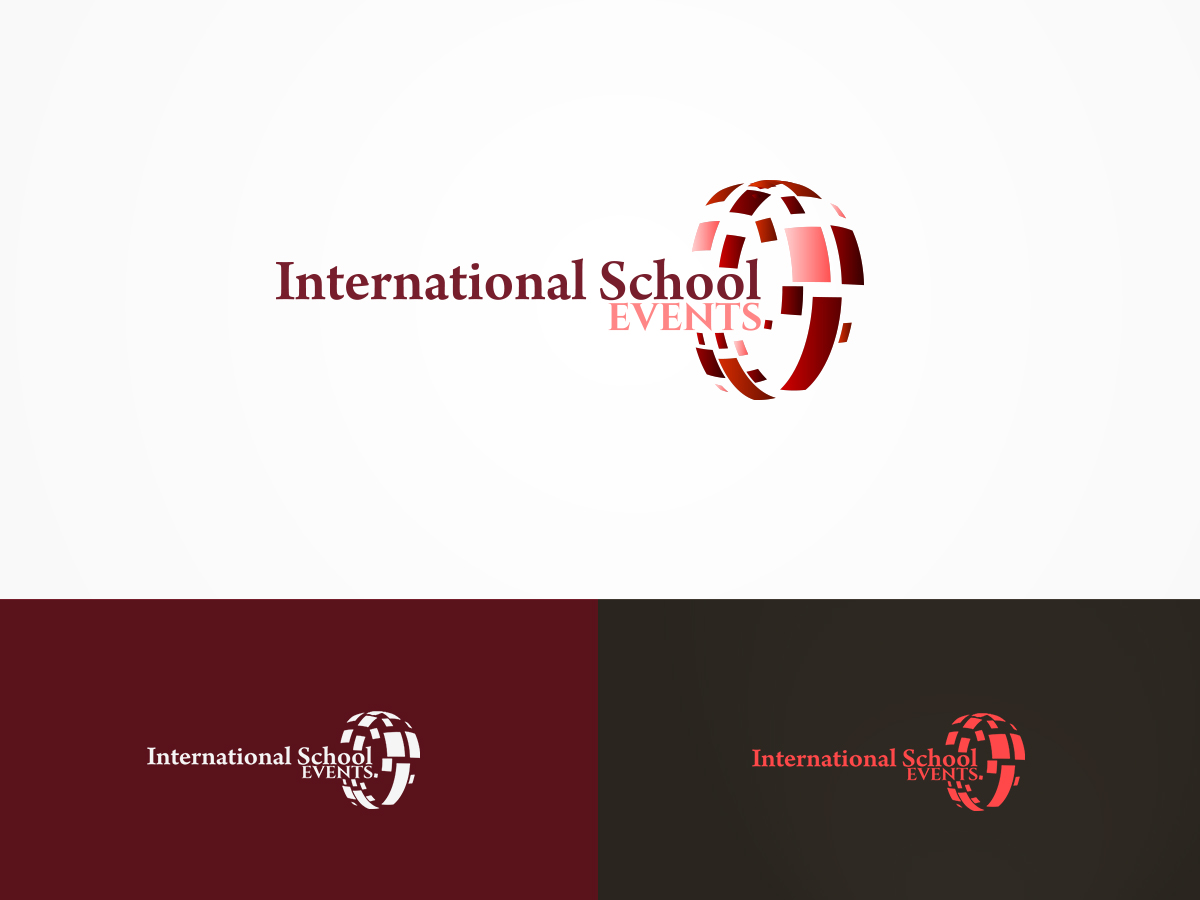 Professional upmarket school logo design for for International design company