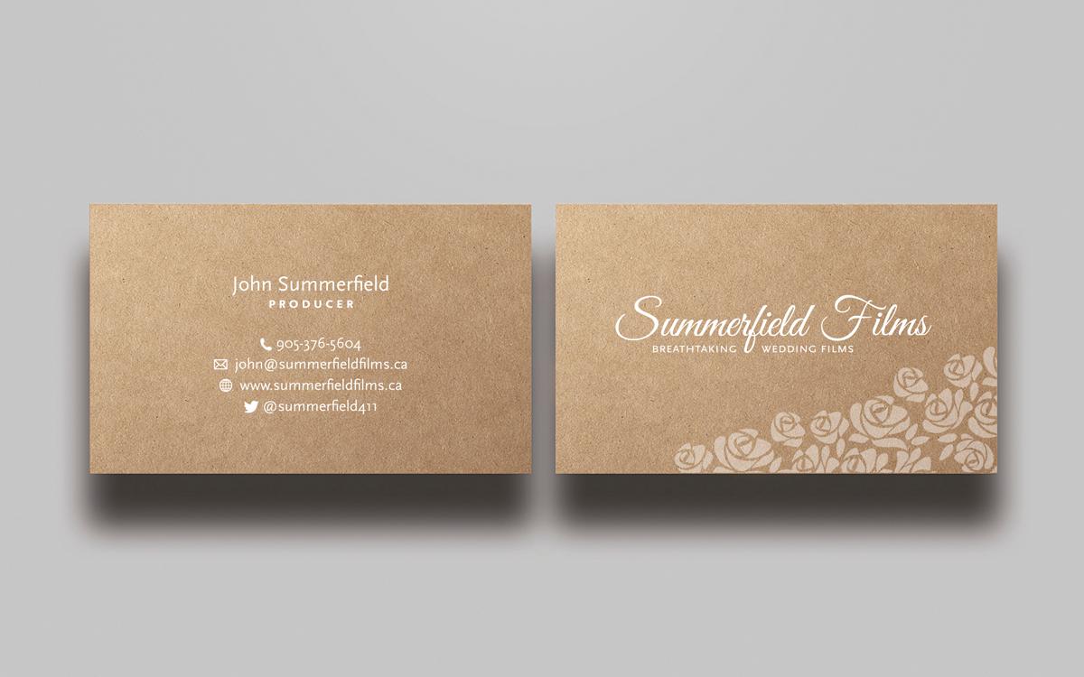 Upmarket feminine business card design for summerfield films by business card design by mtbosh for wedding filmmaker needs artistic business card design summerfieldfilms colourmoves Choice Image