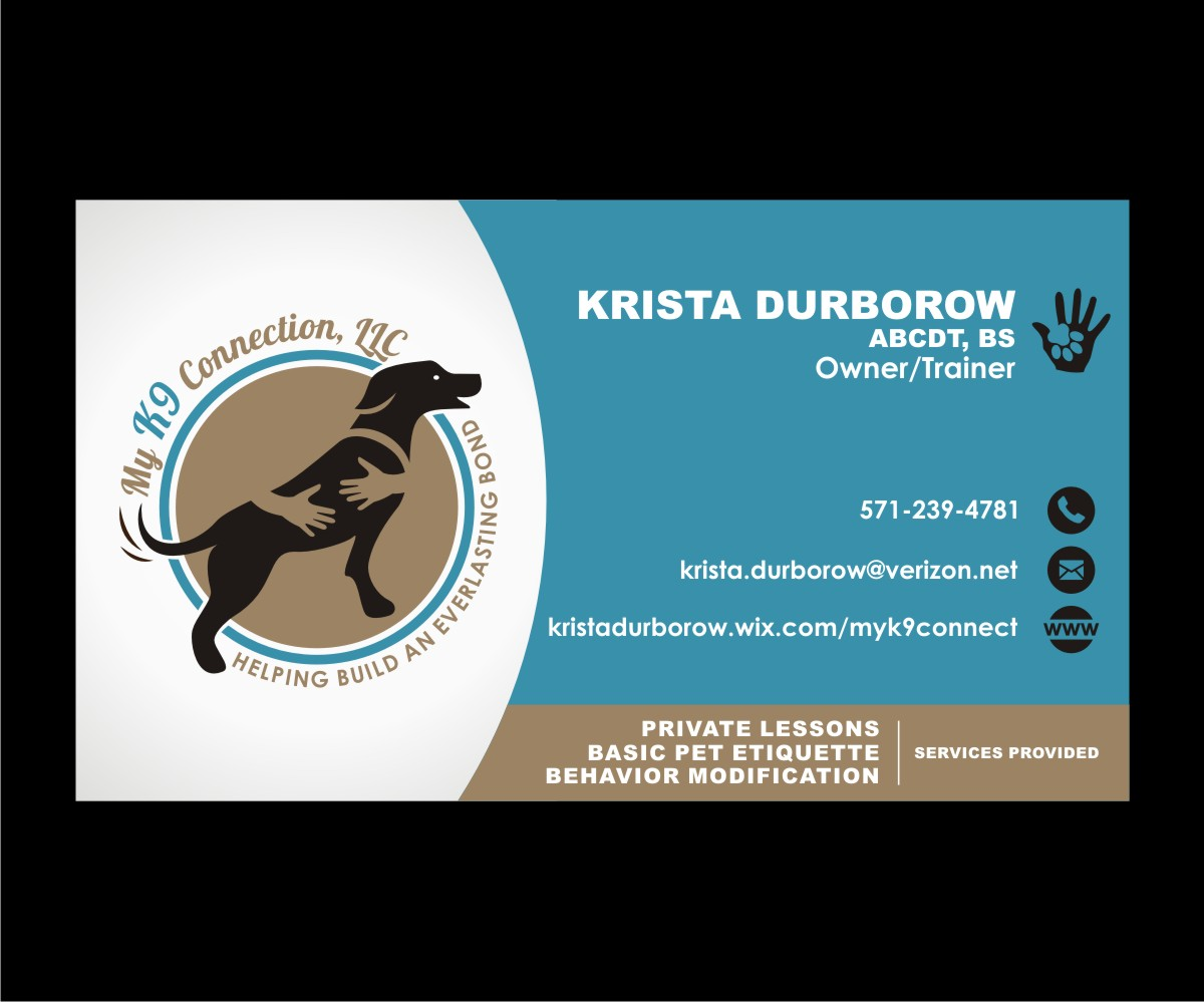 Playful, Colorful, Dog Training Business Card Design for My K9 ...