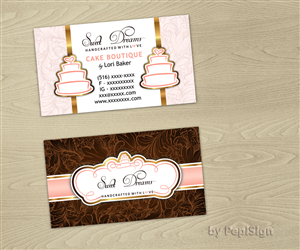 Sweet business card designs 16 sweet business cards to browse help our cake boutique find our winning design were looking for a business colourmoves