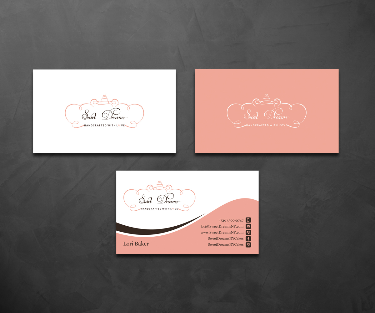 Elegant, Feminine Business Card Design for Sweet Dreams NY by ...