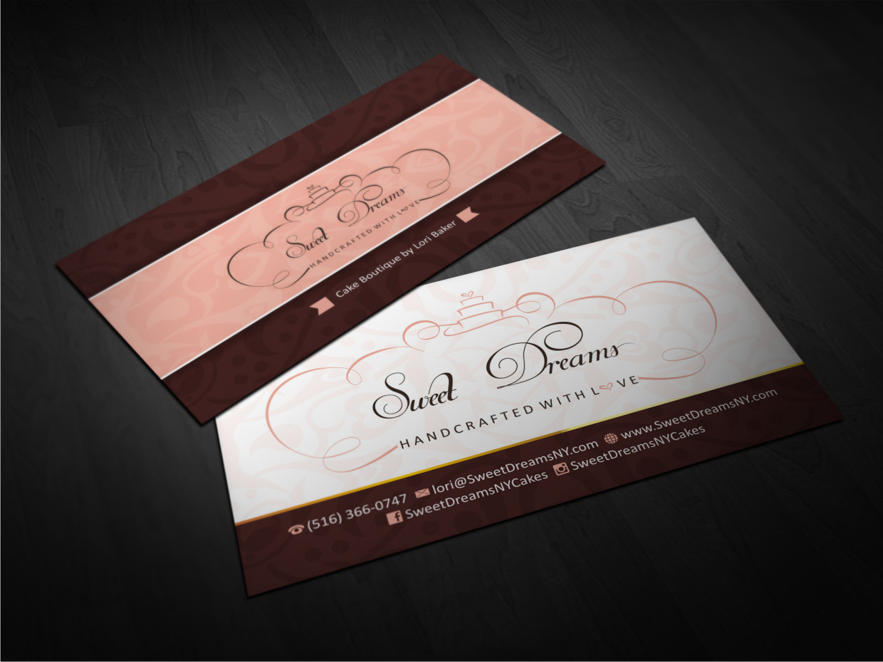 Elegant feminine boutique business card design for sweet dreams ny business card design by atvento graphics for sweet dreams ny design 5678987 colourmoves