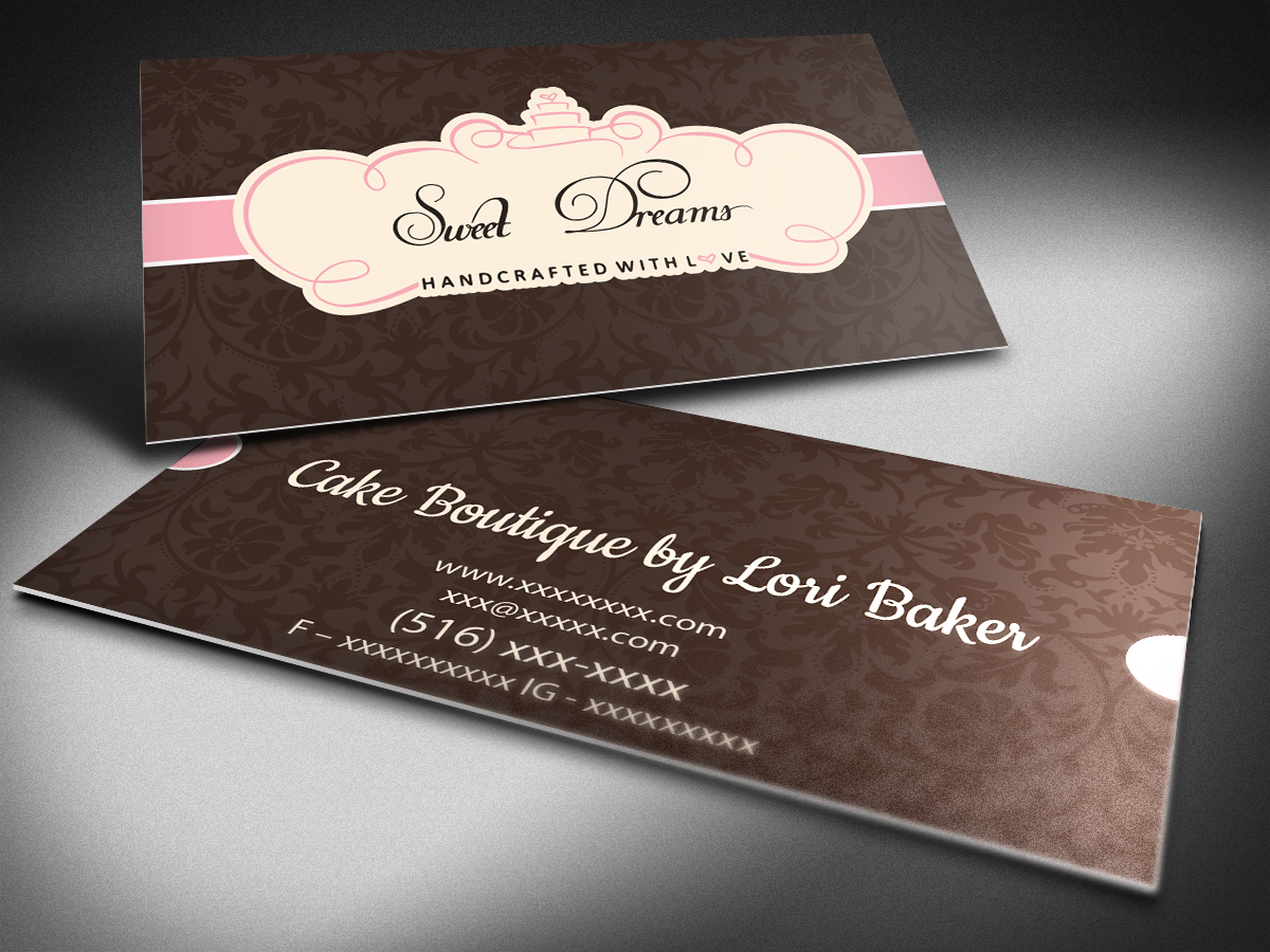 Elegant feminine boutique business card design for sweet dreams ny business card design by nicki townsend for sweet dreams ny design 5763085 colourmoves