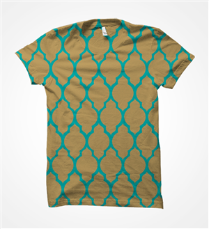 T-shirt Design by INDIAN_Ashok - Gold and aqua T-shirt (easy task just follow th ...