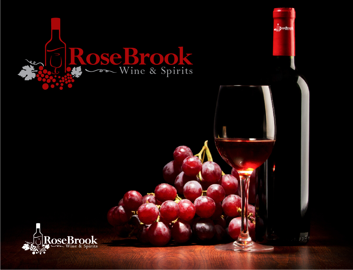 Shop Logo Design for RoseBrook Wine & Spirits by MIDAS