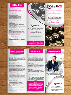 Brochure Design by hih7 - Small Boutique Virtual Assistant business needs ...